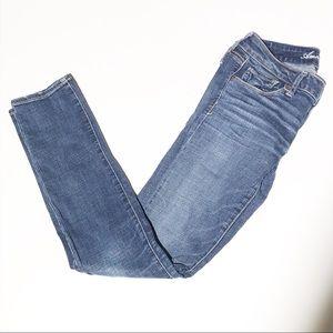 AMERICAN EAGLE stretch denim skinny jeans SZ 6